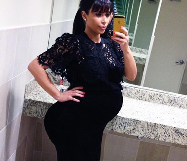 new-kim-kardashian-pregnant-pictures