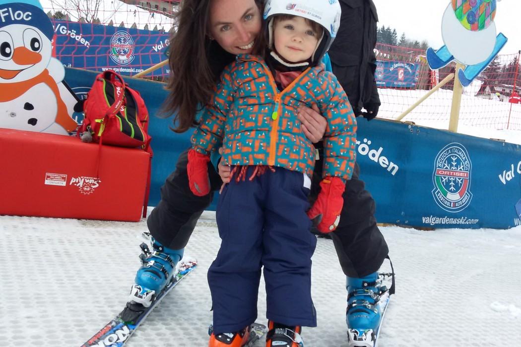 Leo e la sua prima giornata di sci
