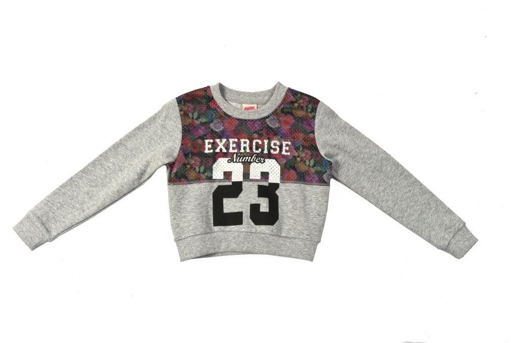 4C508F033 floral mesh sweatshirt