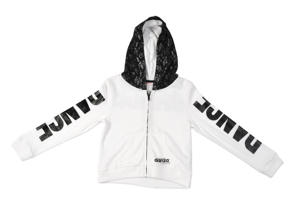 4C521F003 light fleece and lace sweatshirt